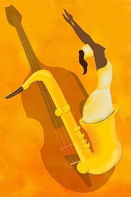 Saxaphones Digital Art - Play Me by Terry Boykin