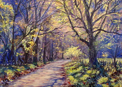 Autumn Landscape Painting - Play Of Light by Bonnie Mason