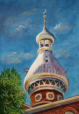 Play Of Light - University Of Tampa Art Print