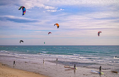Kite Boarding Photograph - Play Time At County Line by Lynn Bauer