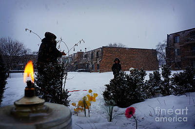Cognition Photograph - Play Time In The Snow by Celestial Images