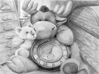 Still Life Drawings - Play Time by Rick Moore