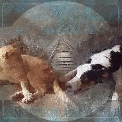 Animal Tracks Digital Art - Play Train by Suzy Norris