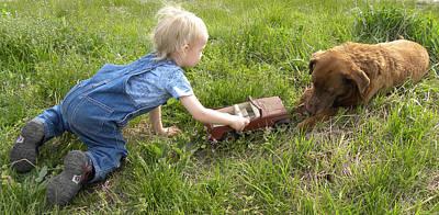 Labrador Retriever Digital Art - Play With Me by Sheri Lauren Schmidt
