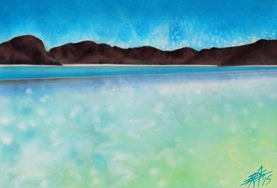Painting - Playa Balandra by Robin Street-Morris