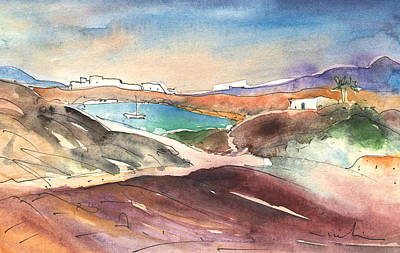 Painting - Playa Blanca In Lanzarote 02 by Miki De Goodaboom