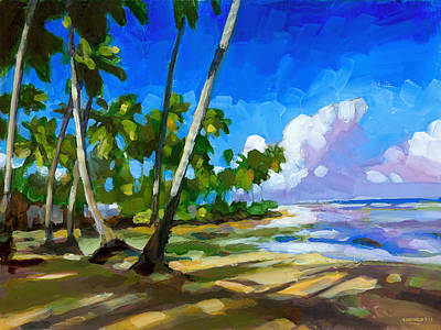 Palm Painting - Playa Bonita by Douglas Simonson