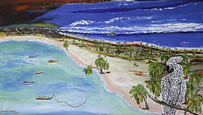 Playa Secreta Art Print by Alfredo Correa