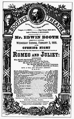 Playbill, 1869 Art Print by Granger