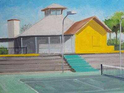 Bleacher Painting - Players Club Hard Court Bleachers by Robert Rohrich