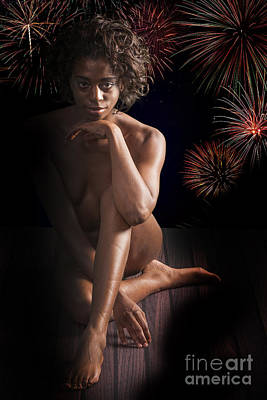 Chynna African American Nude Girl In Sexy Sensual Photograph And In Color 4774.02 Art Print