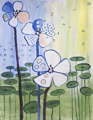 Playful Daisies  Art Print