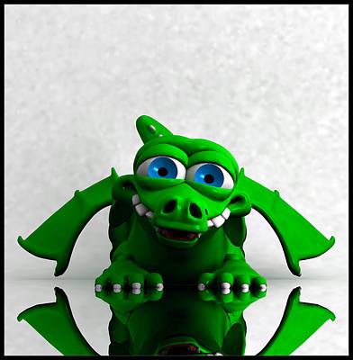 Digital Art - Playful Dragon... by Tim Fillingim