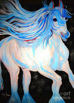 Painting - Playful Dream Horse Large 2 by Saundra Myles