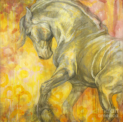 Horse Images Painting - Playful Joy by Silvana Gabudean Dobre
