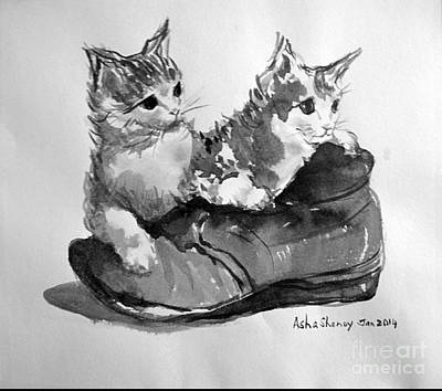 Playful Kittens Art Print
