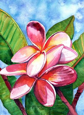 Hawaiian Flower Painting - Playful Plumeria by Marionette Taboniar