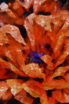 Tempera Mixed Media - Playful Poppies 4 by Angelina Vick