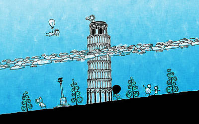 Royalty-Free and Rights-Managed Images - Playful Tower of Pisa by Gianfranco Weiss