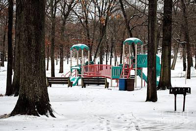 Americas Playground Photograph - Playground In Winter by John Rizzuto