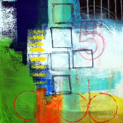 Blue Abstracts Painting - Playground by Linda Woods