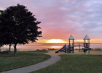 Photograph - Playground Sunrise by Janice Drew