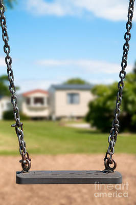 Playground Photograph - Playground Swing by Amanda Elwell