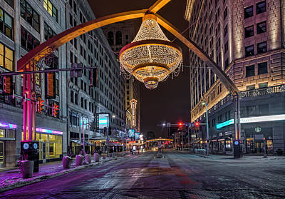 Photograph - Playhouse Square Chandelier  by Brent Durken