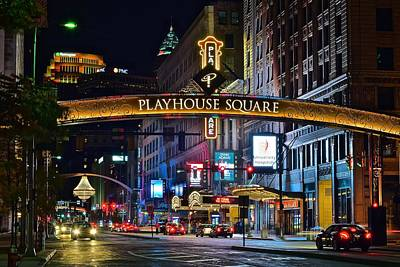 Lebron Photograph - Playhouse Square by Frozen in Time Fine Art Photography