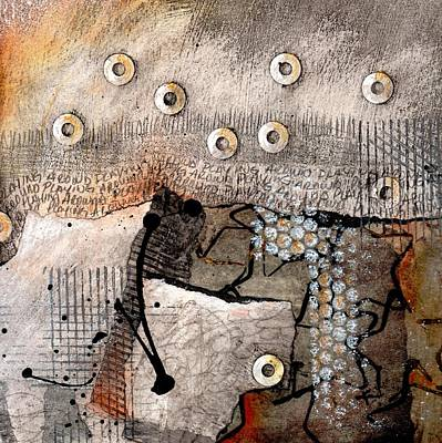 Orange Mixed Media - Playing Around  by Laura  Lein-Svencner
