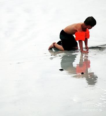 Kathleen Photograph - Playing At Seashore by Kathleen Struckle