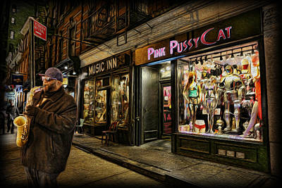 Saxophone Photograph - Playing At The Pink Pussycat Boutique by Lee Dos Santos