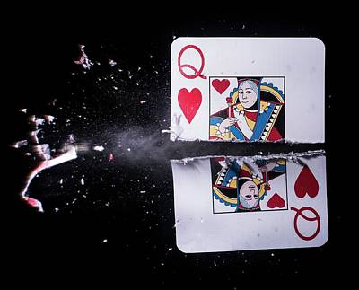 Technology Photograph - Playing Card Trick Shot by Herra Kuulapaa � Precires