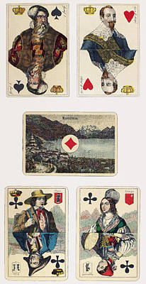 Painting - Playing Cards, 1878-1880 by Granger