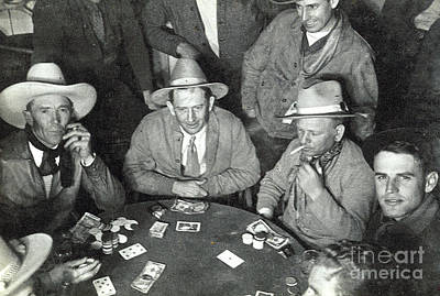 Photograph - Playing Cards 1935 by Patricia  Tierney