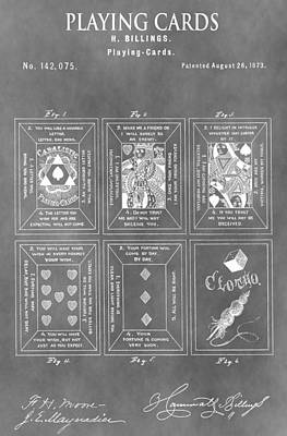 Texas Drawing - Playing Cards by Dan Sproul