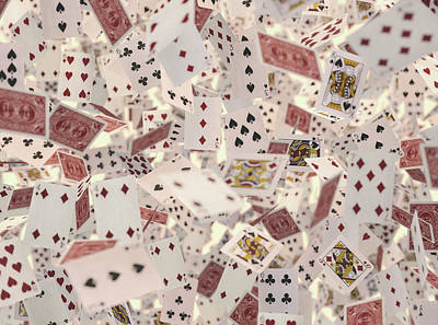 Playing Cards Art Print by Ktsdesign