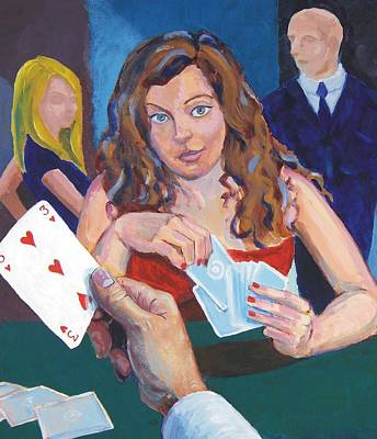 Playing Cards Art Print by Mike Jory
