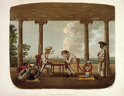 1791 Photograph - Playing Chess by British Library