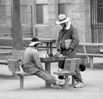 Photograph - Playing Chess by Patricia Januszkiewicz