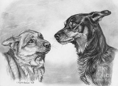 Playing Dog's Emotions Art Print by Svetlana Ledneva-Schukina