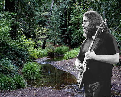 Jerry Garcia Photograph - Playing For The Creek 2 by Ben Upham