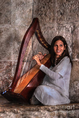 Digital Art - Playing Heavenly Harp by Doc Braham