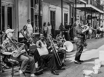 Photograph - Playing Jazz On Royal Street Nola by Kathleen K Parker