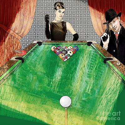 Digital Art - Playing Pool My Way by Liane Wright