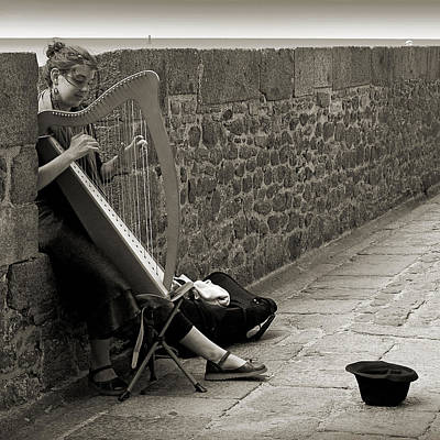 Photograph - Playing The Celtic Harp by RicardMN Photography