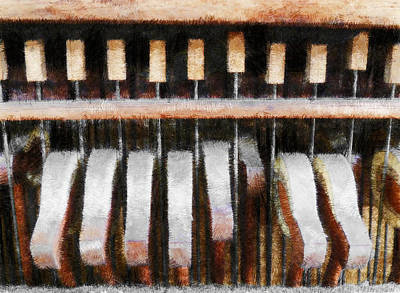 Fuzzy Digital Art - Playing The Notes Softly  by Steve Taylor