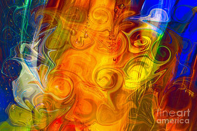 Painting - Playing With Bubbles Textured Abstract Artwork By Omaste Witkows by Omaste Witkowski