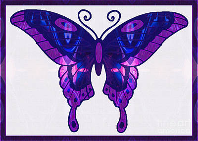 Digital Art - Playing With Purple Abstract Butterfly Art By Omaste Witkowski by Omaste Witkowski