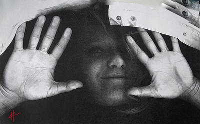 Selfportrait Photograph - Playing With The Scanner  by Colette V Hera  Guggenheim